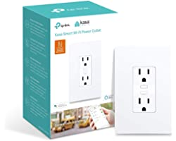 Kasa Smart Plug KP200, In-Wall Smart Home Wi-Fi Outlet Works with Alexa, Google Home & IFTTT, No Hub Required, Remote Control