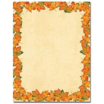 Painted Maple Leaves Laser & Inkjet Printer Paper