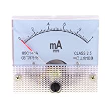 Dimart Class 2.5 Accuracy DC 0-1mA Analog Current Panel Meter Ammeter 85C1-mA