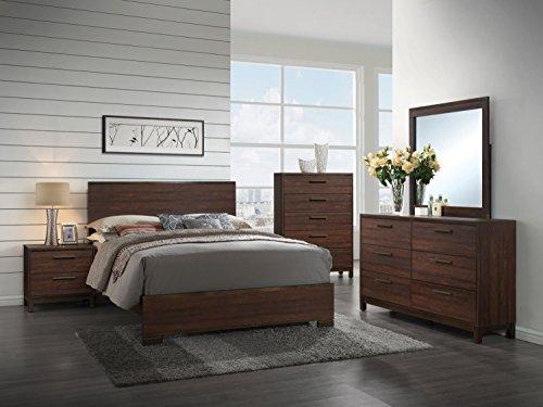 Coaster Home Furnishings 204351Q Panel Bed, Rustic Tobacco/Dark Bronze