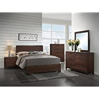 Coaster Edmonton Queen Panel Bed in Rustic Tobacco and Dark Bronze