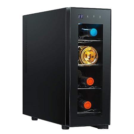 JCJ-Shop LED - Nevera de Vinos | Refrigerador Bebidas | Capacidad ...
