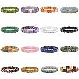 Justinstones Gem Semi Precious Gemstone Bamboo Joint Beads Stretch Bracelet
