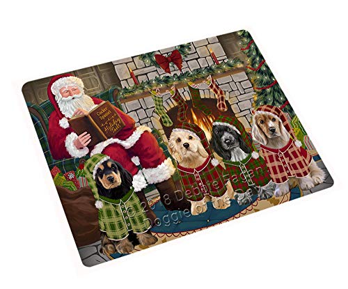 - Christmas Cozy Holiday Tails Cocker Spaniels Dog Cutting Board C70494 (Small 12