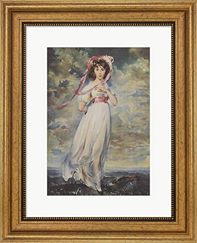 Pinkie, 1794 by Sir Thomas Lawrence Framed Art Print Wall Picture, Wide Gold Frame, 15 x 19 inches