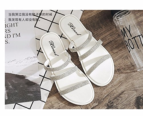 slippers soft skid fashionable LIUXINDA beach Cool bottom women's XZ sandals proof White tide bottomed Summer shoes and flat wpwCP7