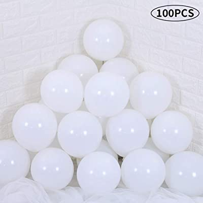 TONIFUL White Latex Balloons 10 inch Large Helium Party Balloons for Wedding Birthday Ceremony Decorations(100 Pcs): Home & Kitchen