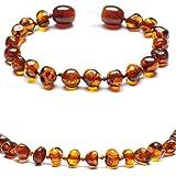 Baltic Secret New New Baltic Amber Anklet Bracelet Cognac - Handmade 100% Genuine Amber Beads - Premium Quality - 13.5cm