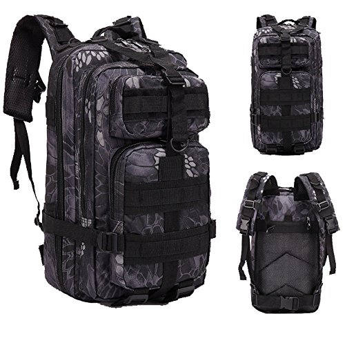 HOSOME 30L Outdoor Military Tactical Assault Hiking Camping Fishing Trekking Traveling Extreme Water Resistant Rucksack