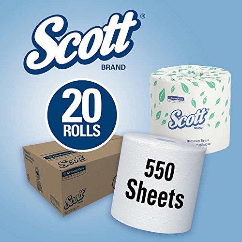 Scott White 2 Ply (Scott Standard Roll Bath Tissue 2-Ply White 20ct)