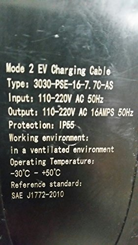 EV Charge Solutions Portable Electric Vehicle Charger EVSE 220-240v Level 2 Nema 6-20 Plug To J1772 25' Station for EV Charging (1 Year Warranty!) 2-Day Priority Shipping !!! by evCHARGEsolutions.com (Image #6)