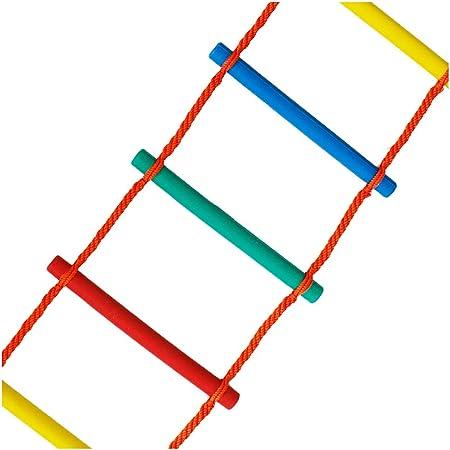 FIREDUXYL Escalera de Cuerda de Escape de Emergencia para niños, Juegos de Columpios para Parques Infantiles, Accesorios de la casa del arbol,1m: Amazon.es: Hogar