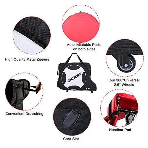 Lixada Automatically Inflatable Pad Bike Transport Travel Bike Carry Bag Nylon Pad Bag for 700C Road Bike by Lixada (Image #5)'
