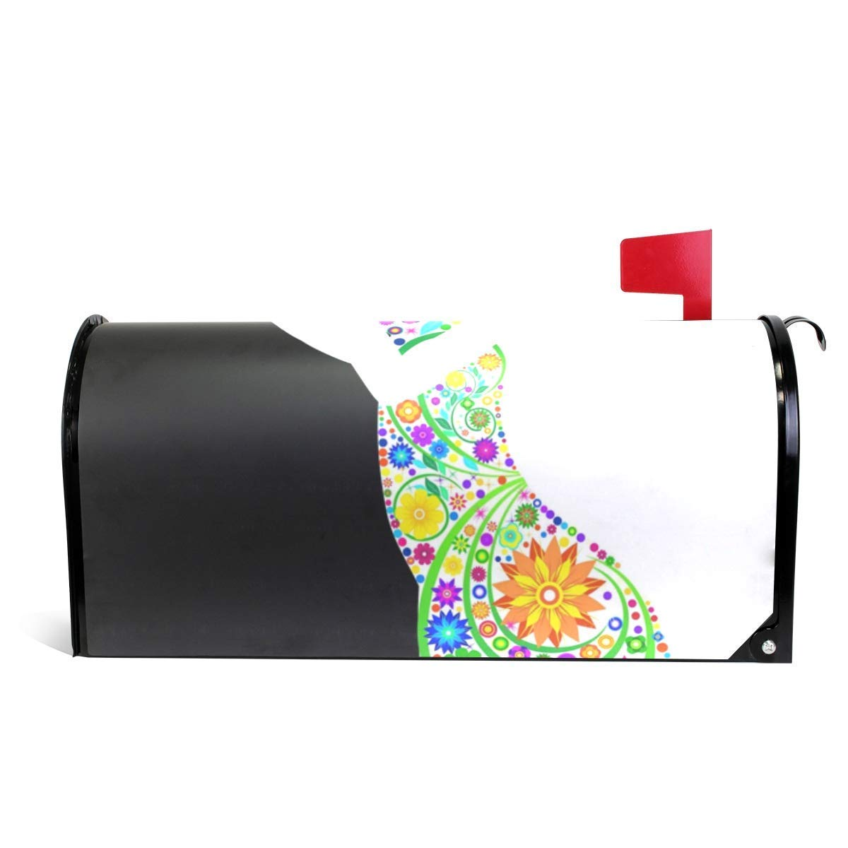 Gnisbvo Magnetic Mailbox Cover Flower Women Decoration for House Garden