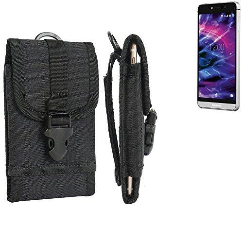 bolsa del cinturón / funda para Medion X5004, negro | caja del teléfono cubierta protectora bolso - K-S-Trade (TM)