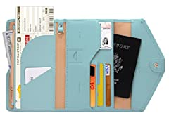 Zoppen Mulit-purpose Rfid Blocking Travel Passport Wallet - Version 4 It was made from premium polyurethane and faux suede, offer a better grip on the clutch. The new one has more comfort touching base on the more sponge added. Well organized your ca...
