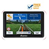 Aonerex GPS Navigation 7-inch HD Display Built-in with 128MB-8GB GPS Navigation System Built-in Multi-Media and FM for Car with Lifetime Free Update Map (Black)