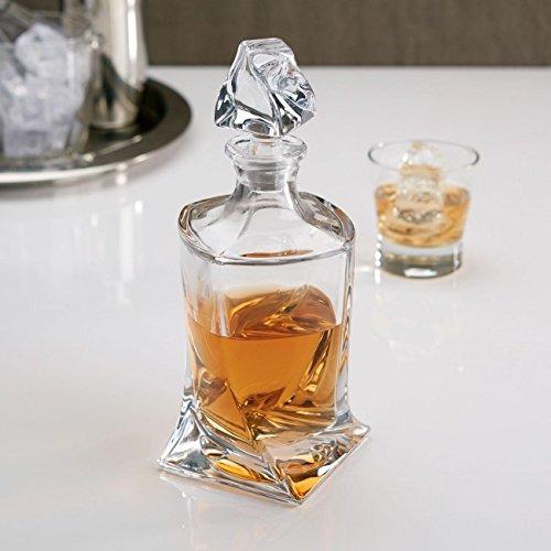 Decantador de cristal, 850 ml para Whisky y licor, botella, jarra, Bohemia, 28 cm de alto Quadro: Amazon.es: Hogar