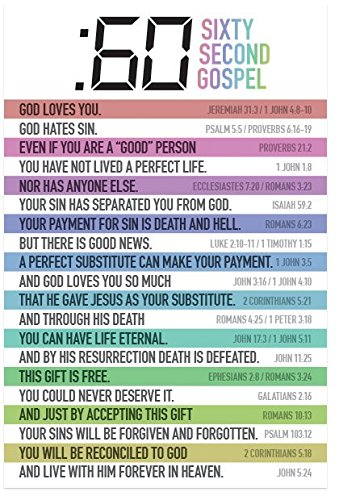 picture about Romans Road Kjv Printable named 60 Instant Gospel (Packet of 100, KJV)