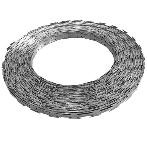 SKB Family BTO-22 NATO Razor Wire 328' Steel with Plastic Container New Steel (Barbed Wire Wound)