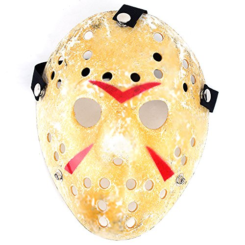 New Jason vs Friday The 13th Horror Hockey Mask, Deluxe Cosplay Costume Halloween Killer Masquerade Mask Costume (Hockey Mask Killer)