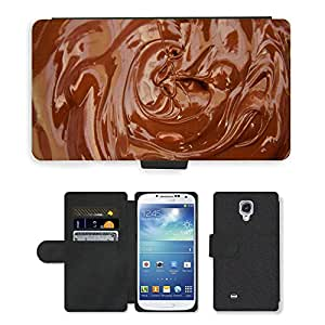 Hot Style Cell Phone Card Slot PU Leather Wallet Case // M00151580 Chocolate Melt Milk Brown Food // Samsung Galaxy S4 S IV SIV i9500