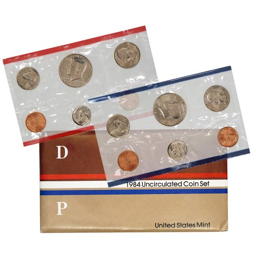 1984 United States Mint Uncirculated Coin Set in Original Government Packaging