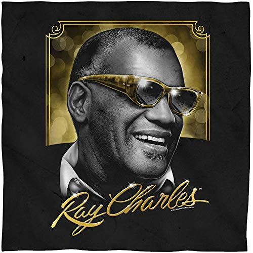 Ray Charles Sunglasses (RAY CHARLES/GOLDEN GLASSES-BANDANA -WHITE-ONE)