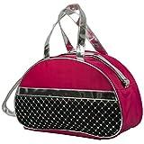 #1 Fashion Girls Dance Duffle Moon Ballet Bags (Hot Pink)