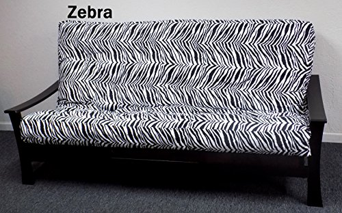 Royal Sleep Products Memory Foam Futon Mattress Upholstery Cover Factory Direct F/Q Zebra Print (Full, Zebra)