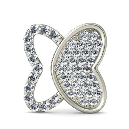 Or blanc 18K 0.528CT TW Round-cut-diamond (IJ | SI) Boucles d'oreille à tige