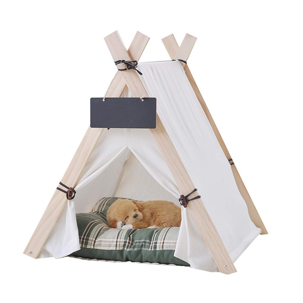 1(with mat) S 1(with mat) S Dog Tepee, Indoor Simple Shape Pet Teepee Cat Bed Dog Tents Pet House for Cat Dog Pet Nest (color   1(with mat), Size   S)