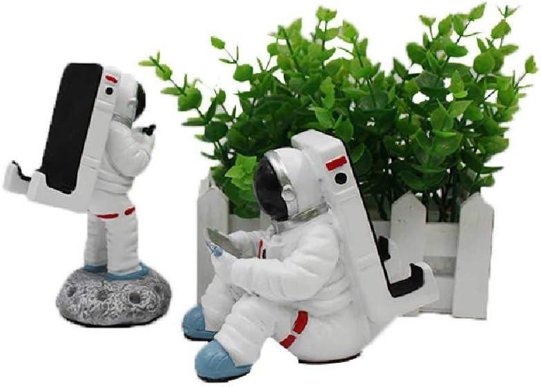 HLCKLYCX Tres Adornos de Resina de Caballo Soporte para teléfono móvil Astronauta Asiento para teléfono móvil Oficina hogar Escritorio Perezoso Soporte para teléfono móvil
