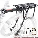 Bike Pannier Rack, Bicycle Rear Rack Cycling Seatpost Rack MTB Aluminum Luggage Cargo Rack with Reflector