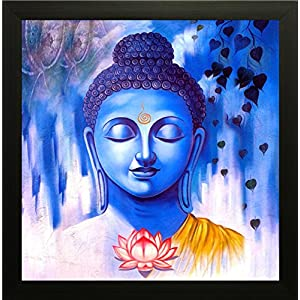 SAF Buddha Vastu UV Coated Home Decorative Gift Item Framed Painting 12 inch X 12 inch SANF1000014