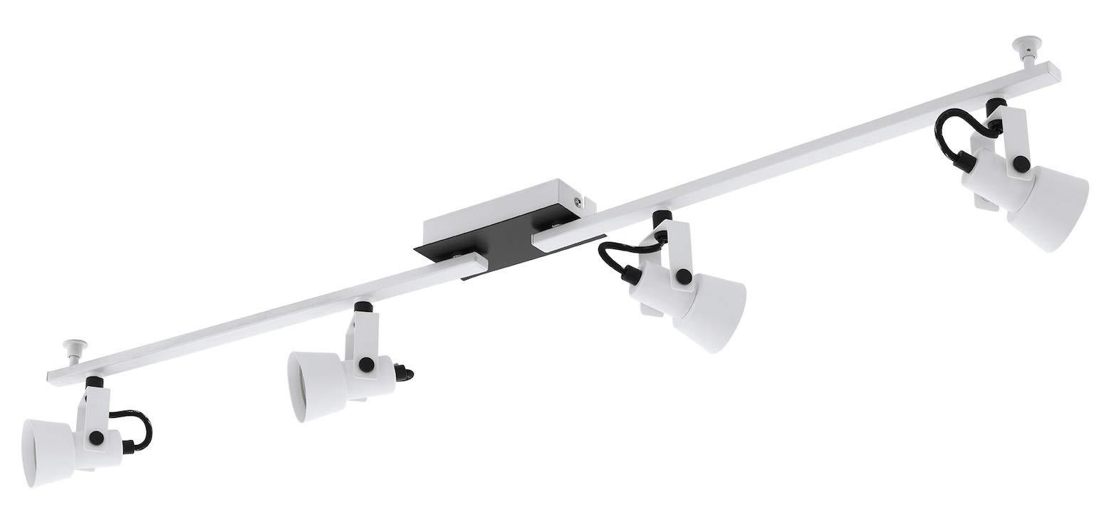 Trillo 4-Light Track Light in White & Black