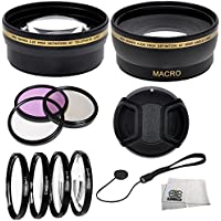 Digital Accessory Kit For Sony Alpha NEX-3, NEX-5, NEX-3N, NEX-5N, NEX-C3, NEX-C3K, NEX-7 Digital SLR Cameras: Includes- Wide Angle Lens, Telephoto Lens, Lens Cap, 7 Piece Filter Set(UV-CPL-FLD + 4 Macro Filters - +1,+2,+4,+10)7 Piece Filter Set(UV-CPL-FLD + 4 Macro Filters - +1,+2,+4,+10), Lens Cap Keeper and a Cleaning Cloth. (Works with Any Of The Following Sony Lenses: 18-55mm, 16mm) Review Review Image