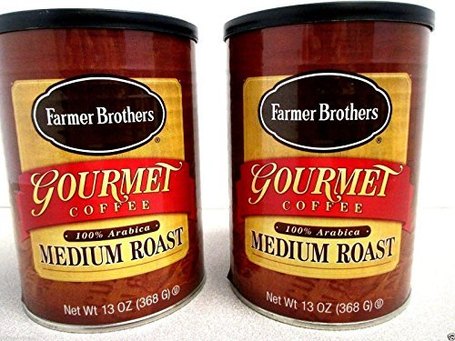 Price comparison product image Farmer Brothers Gourmet 100% Arabica Medium Roast Ground Coffee 13 Ounce 2 Cans