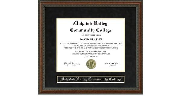 Amazon.com - Mohawk Valley Community College (MVCC) Diploma Frame ...