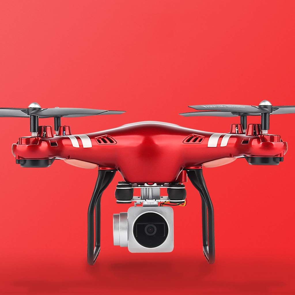 Reducción de precio Drone RC Quadcopter Altitude Hold sin Cabeza RTF 3D 360 Grados FPV Video WiFi 500W HD Cámara 6 Ejes 4CH 2.4GHz Easy Fly Estable para Aprender Rojo