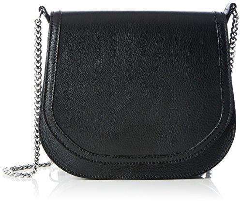 kaviar gauche Petite Bag Plain, Borsa a spalla Donna Nero (Black/Silver)