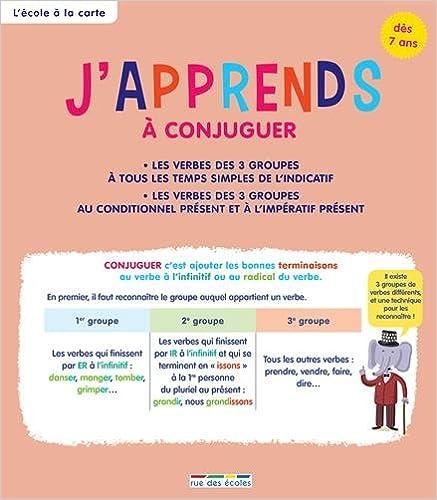 Livres J'apprends à conjuguer, dès 7 ans pdf, epub