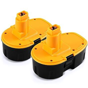 2x Batterie 3000mah 18v ni-mh pour DEWALT dc411kl dc490b dc495b dc495ka dc515b