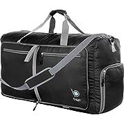Bago 60L Packable Duffle Bag for Women & Men – 23″ Foldable Travel Duffel Bag (Black)