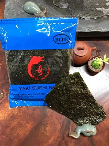 HCK Yaki Sushi Nori Premium Quality Seaweed Pack Blue (50 Full Sheets)