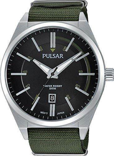 Pulsar Gents Canvas Strap Watch