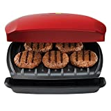 George Foreman GR2080RC 5-Serving Classic Plate Grill, Red
