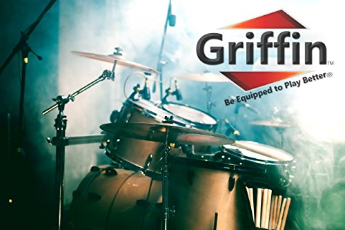 Popcorn Snare Drum by Griffin | Firecracker 10'' x 6'' Poplar Shell with Zebra Wood PVC|Soprano Concert Percussion Musical Instrument with Drummers Key and Deluxe Snare Strainer|Beginner & Professional by Griffin (Image #5)