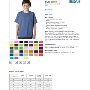 Gildan Heavy Cotton T-Shirt, White, Medium (Pack of 12)