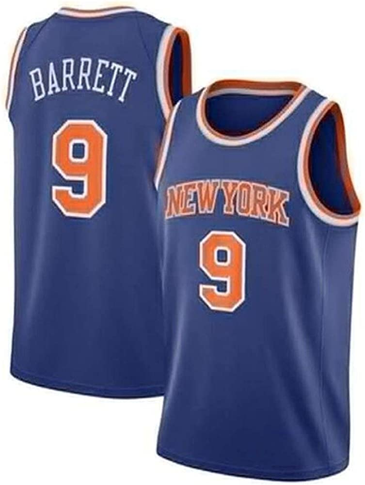 MMK R Herren Trikots Sport Weste Oben J Barrett # 9- New York Knicks Basketball Trikot